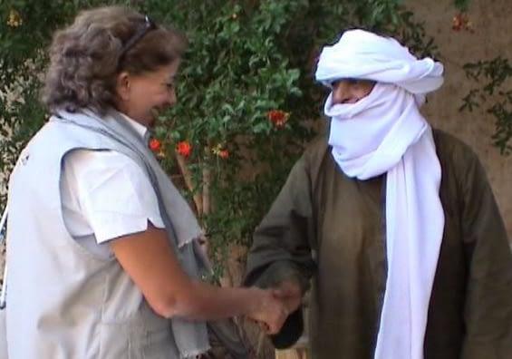 La poignée de son engagement à sauver l'Imzad